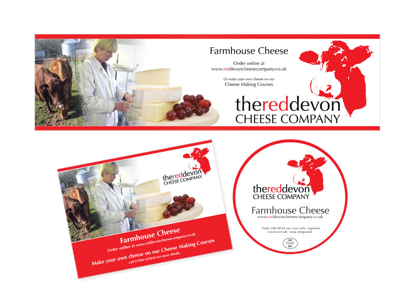 red Devon Cheese Company - labels and postcard