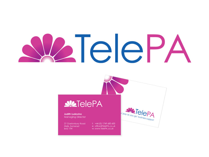 TelePA logo and business card
