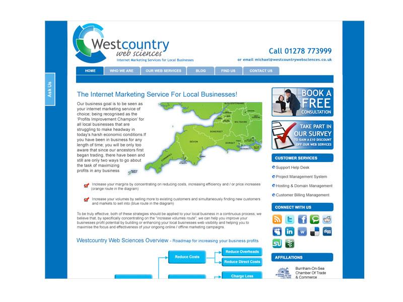 Westcountry Web Services - website design