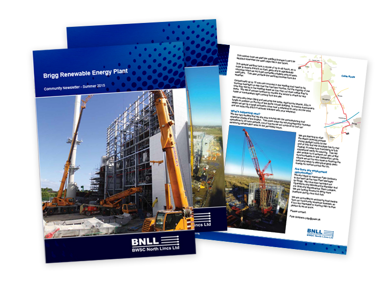 Brigg Renewable Energy Plant A4 Newsletter - in conjuction with Sillson Communications Ltd
