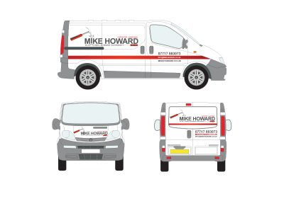 Mike Howard Van Livery - courtesy of Sign Solutions, Yeovil