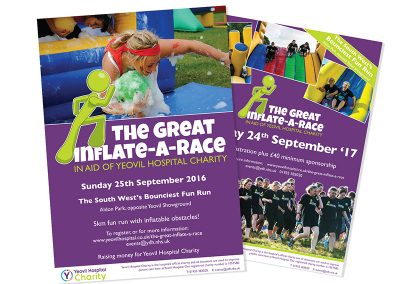 Yeovil Hospital Charity, Inflate-a-Race Posters