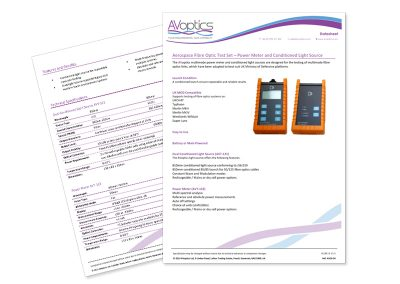AVoptics Information Sheets
