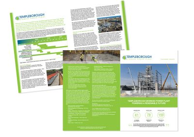 Templeborough Biomass Energy Plant A4 Newsletter - in conjuction with Sillson Communications Ltd