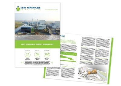 Kent Renewable Energy Plant A4 Newsletter - in conjuction with Sillson Communications Ltd