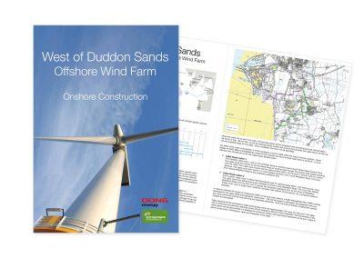 West of Duddon Sands Offshore Wind Farm A4 brochure - in conjuction with Sillson Communications Ltd